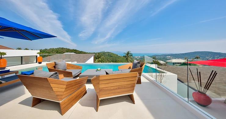 Iconic 6 Bed Luxury Sea view Villa Resort in Bophut-3