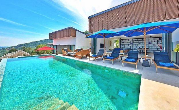 Iconic 6 Bed Luxury Sea view Villa Resort in Bophut