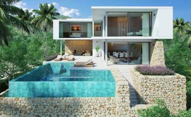 Contemporary 3-4 Bed Sea view Luxury Villa in Bophut
