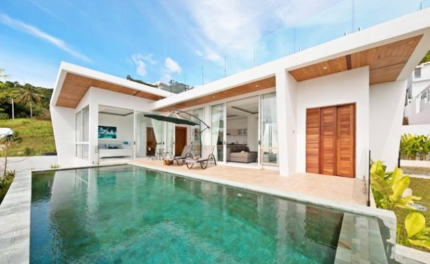 Panoramic Sea view 2-Bed Modern Villa on Chaweng