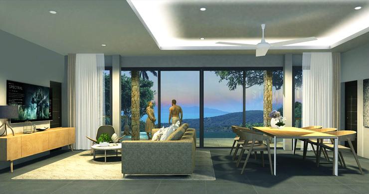 New Modern 2-3 Bedroom Sea view Pool Villas in Lamai-5