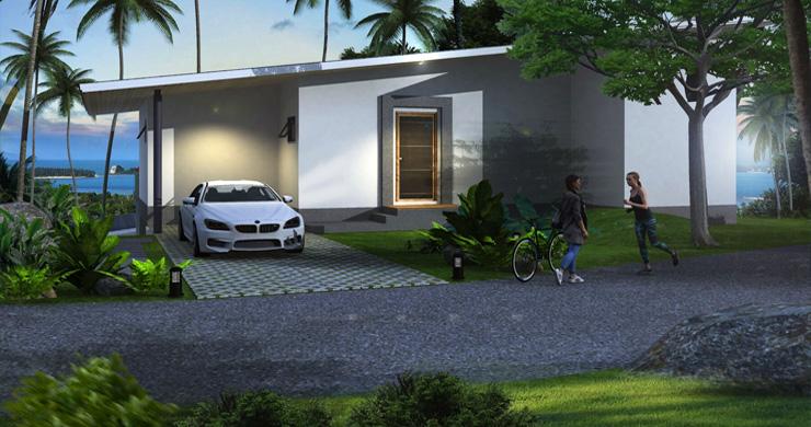 New Modern 2-3 Bedroom Sea view Pool Villas in Lamai-7