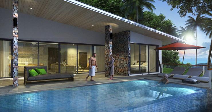 New Modern 2-3 Bedroom Sea view Pool Villas in Lamai-6
