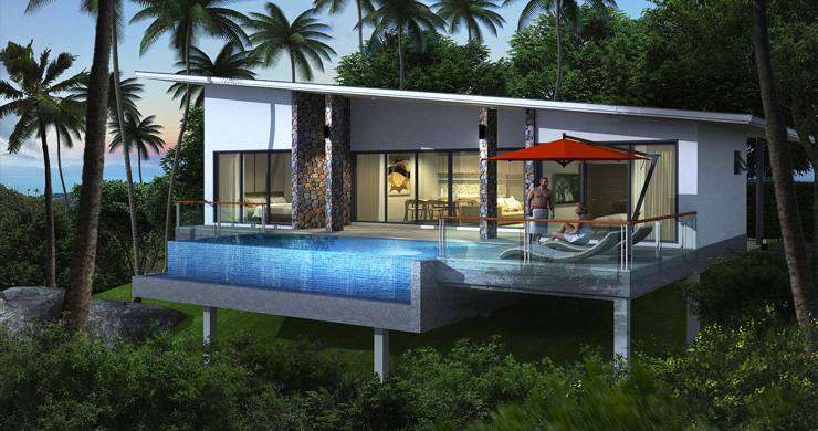 New Modern 2-3 Bedroom Sea view Pool Villas in Lamai-4