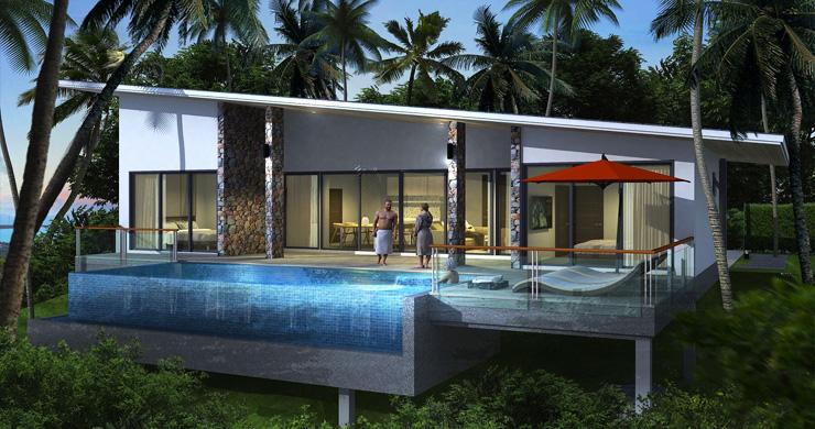 New Modern 2-3 Bedroom Sea view Pool Villas in Lamai-2