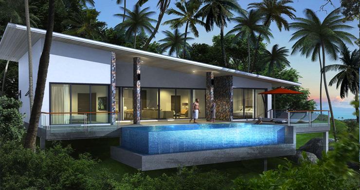 New Modern 2-3 Bedroom Sea view Pool Villas in Lamai-3