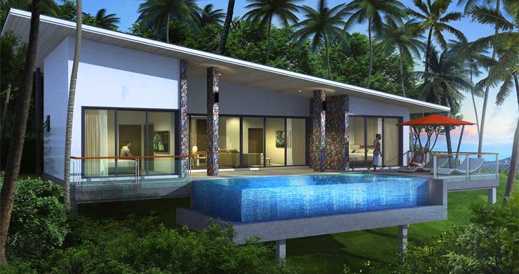New Modern 2-3 Bedroom Sea view Pool Villas in Lamai-1