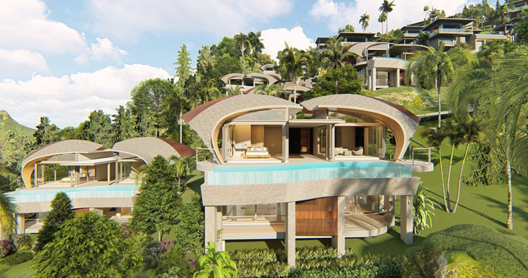 Ultra-Chic 3 Bed Sea view Luxury Villas in Chaweng Noi-9