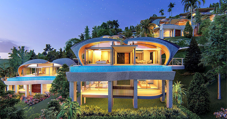 Ultra-Chic 3 Bed Sea view Luxury Villas in Chaweng Noi-8