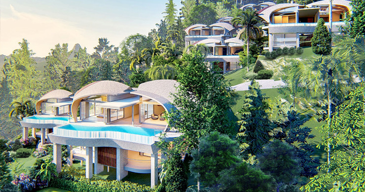 Ultra-Chic 3 Bed Sea view Luxury Villas in Chaweng Noi-7
