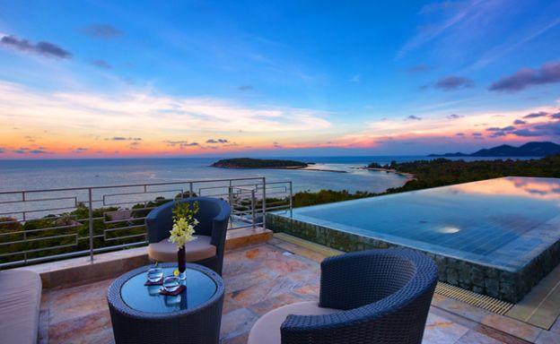 Chic 4 Bed Luxury Zen Sea view Villa in Choeng Mon