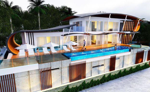 Stylish 5 Bedroom Sea View Villas for Sale in Maenam
