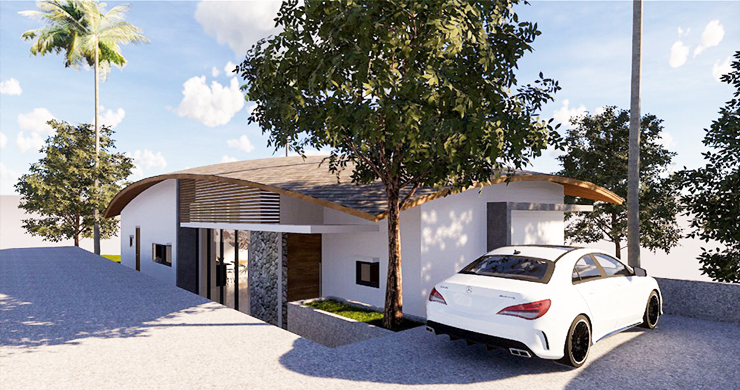 New Modern 3 Bedroom Pool Villas for Sale in Maenam-5