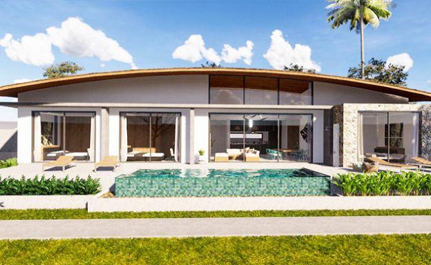New Modern 3 Bedroom Pool Villas for Sale in Maenam