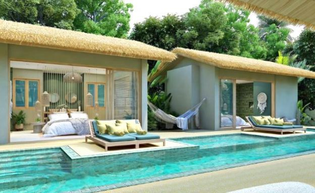 Charming 2-3 Bed Chic Sea-view Pool Villas in Lamai