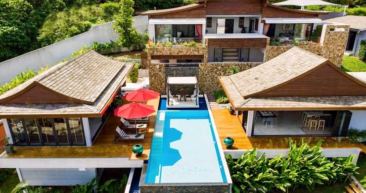 Breathtaking Sea view 4 Bed Luxury Villa on Bophut-15