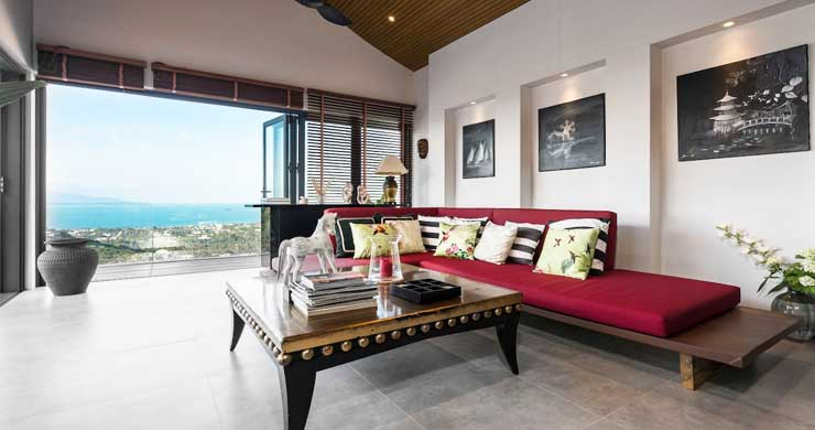 Breathtaking Sea view 4 Bed Luxury Villa on Bophut-16