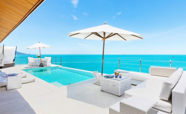 Stunning 3 Bed Oceanfront Villa for Sale in Plai Laem