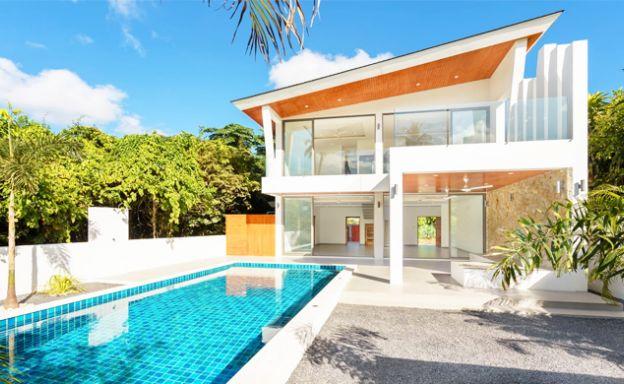 New Modern 3 Bedroom Detached Pool Villa in Bophut