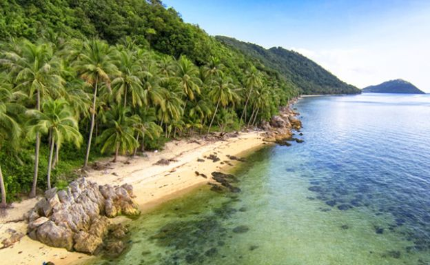 Unique Sunset Beachfront Land for sale in Taling Ngam