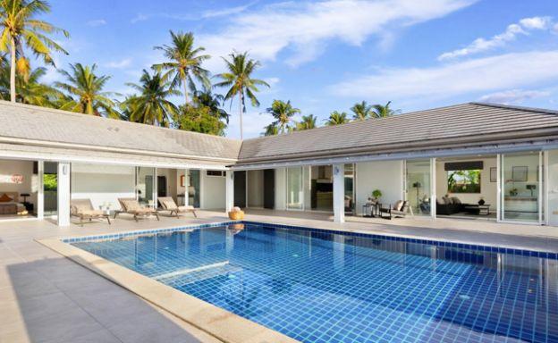 Luxury 3 Bed Pool Villa with large garden in Maenam