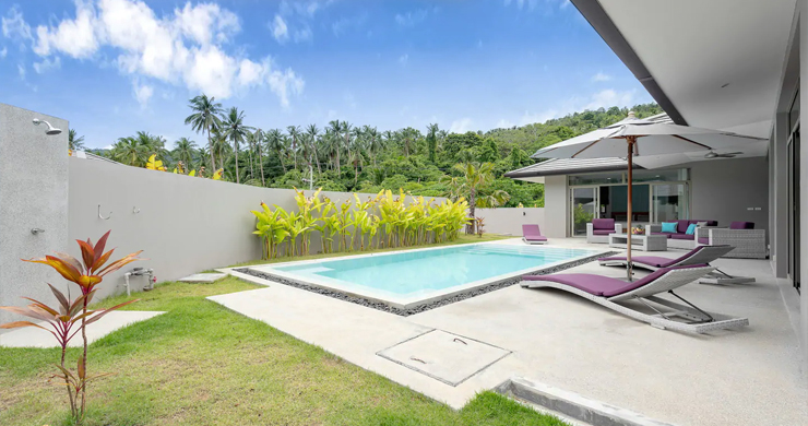 New Modern 3 Bed Private Pool Villa in Tranquil Lamai-11