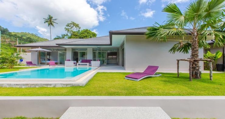 New Modern 3 Bed Private Pool Villa in Tranquil Lamai-1