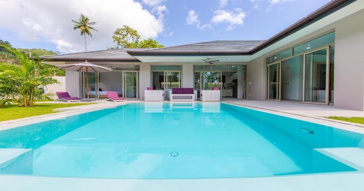 New Modern 3 Bed Private Pool Villa in Tranquil Lamai-3