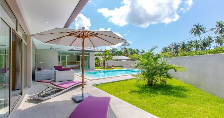 New Modern 3 Bed Private Pool Villa in Tranquil Lamai-2