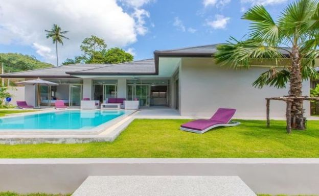 New Modern 3 Bed Private Pool Villa in Tranquil Lamai