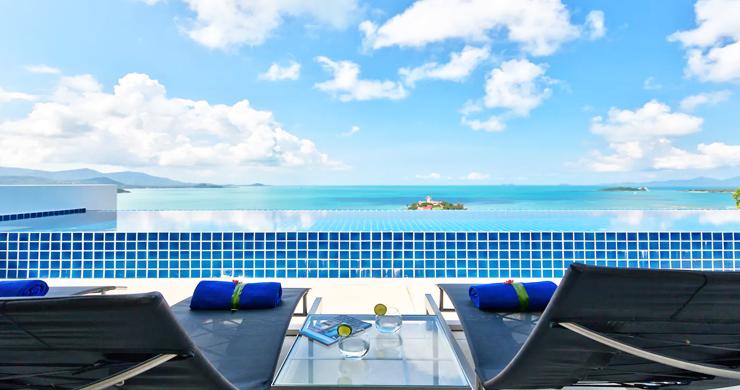 Unique 4 Bed Luxury Sea view Villa by Bangrak Beach-14