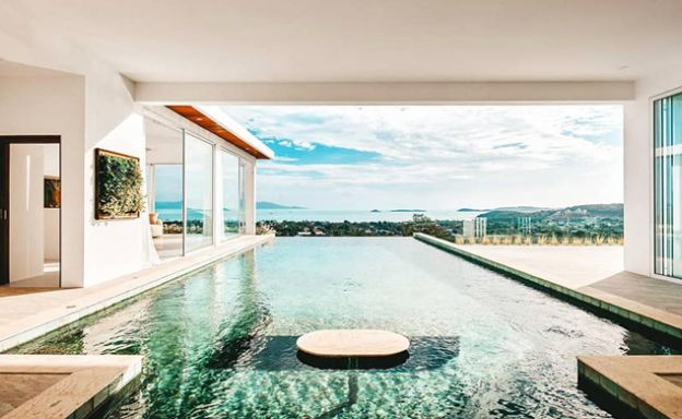 New Luxury 4 Bed Sea view Villas on Bophut Hillside