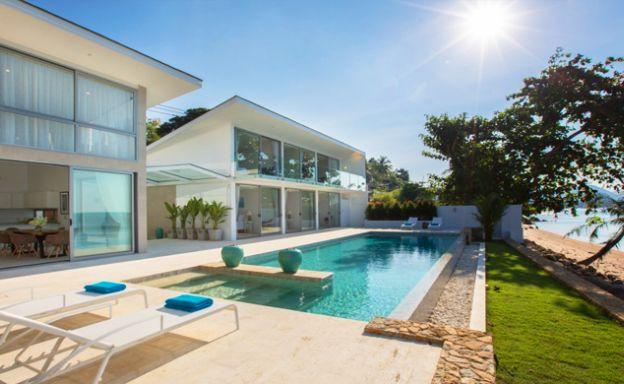 New Beachfront 3 Bed Luxury Villa on Bophut Beach