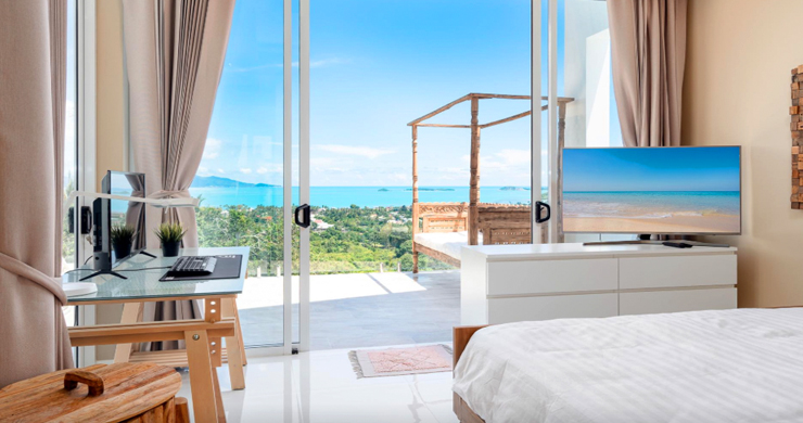 New Modern 2 Bed Sea View Villa in Bophut Hillside-9