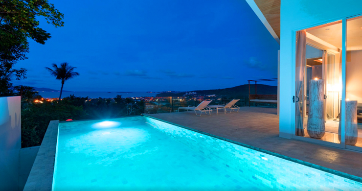 New Modern 2 Bed Sea View Villa in Bophut Hillside-23