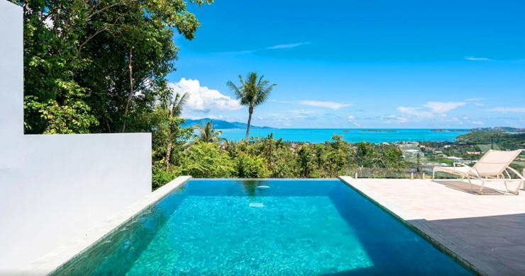New Modern 2 Bed Sea View Villa in Bophut Hillside-22