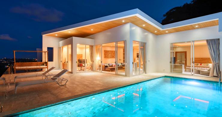 New Modern 2 Bed Sea View Villa in Bophut Hillside-19