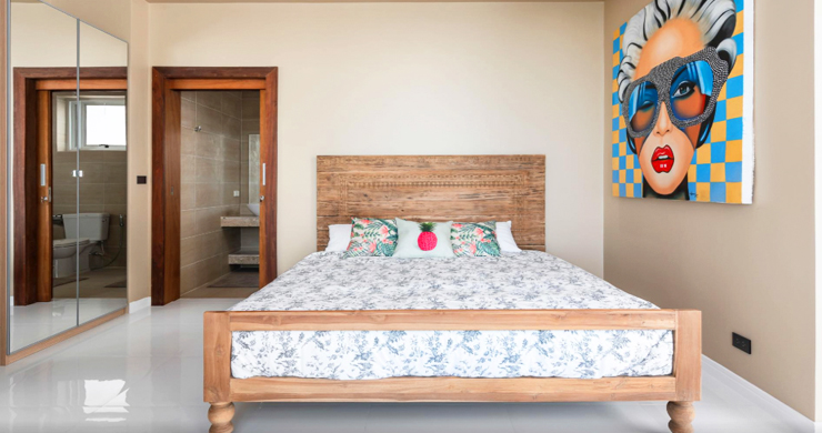 New Modern 2 Bed Sea View Villa in Bophut Hillside-7