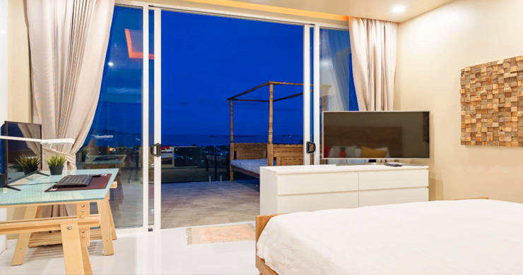 New Modern 2 Bed Sea View Villa in Bophut Hillside-16