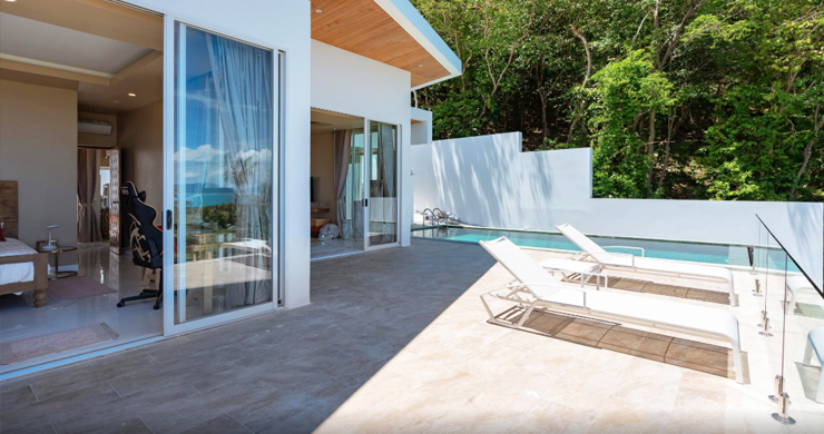 New Modern 2 Bed Sea View Villa in Bophut Hillside-8