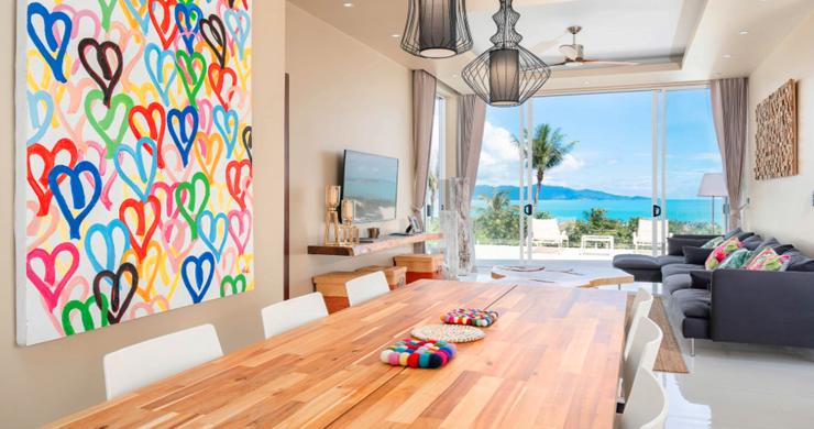 New Modern 2 Bed Sea View Villa in Bophut Hillside-4
