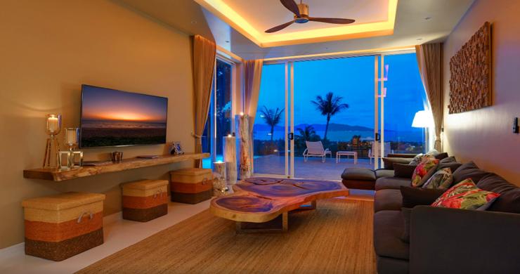 New Modern 2 Bed Sea View Villa in Bophut Hillside-15