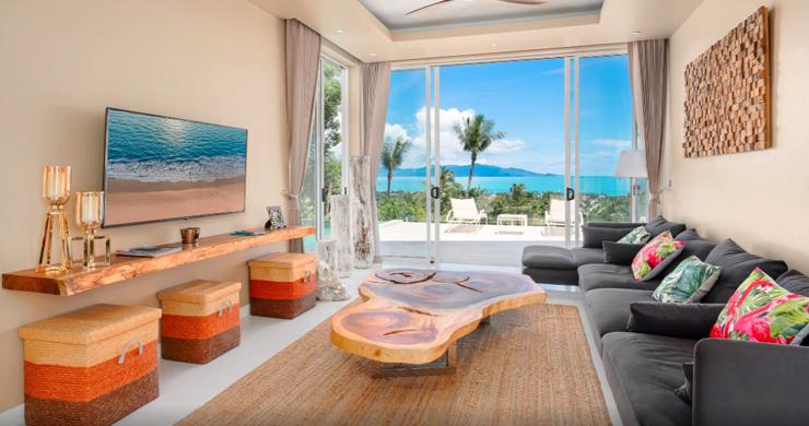 New Modern 2 Bed Sea View Villa in Bophut Hillside-1