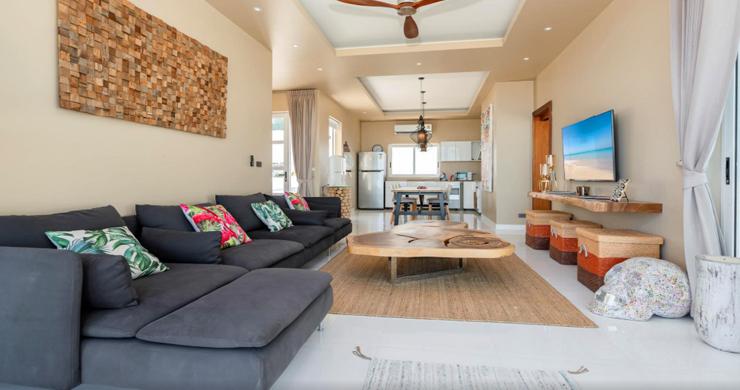 New Modern 2 Bed Sea View Villa in Bophut Hillside-3