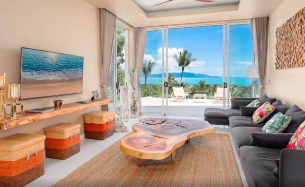 New Modern 2 Bed Sea View Villa in Bophut Hillside