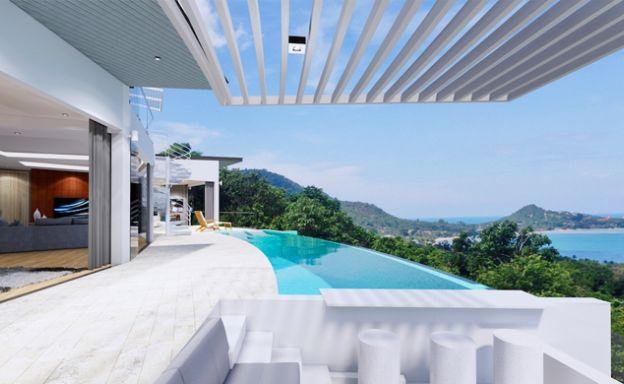 Unique Panorama Sea view 3-4 Bedroom Villa on Lamai
