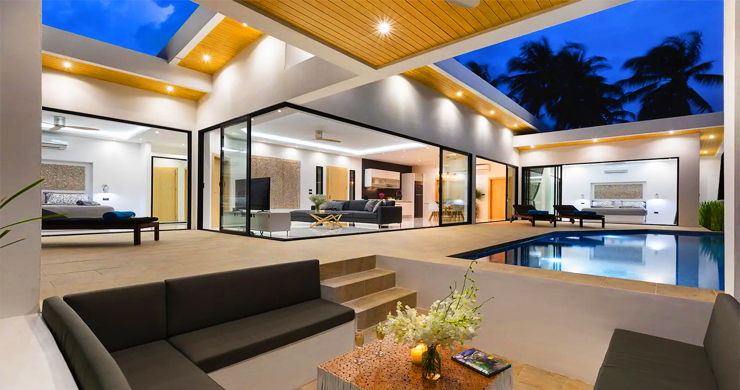 New Modern 3 Bed Private Pool Villa in Chaweng Hills-18