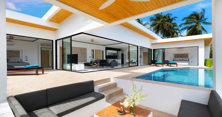 New Modern 3 Bed Private Pool Villa in Chaweng Hills-2