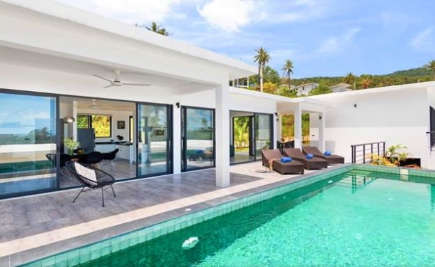 Modern 3 Bed Sea view Villas for Sale in Chaweng Noi