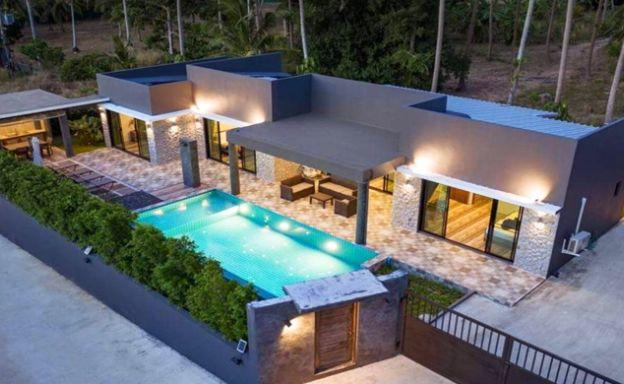 Modern 3 Bed Private Pool Villas in Peaceful Maenam